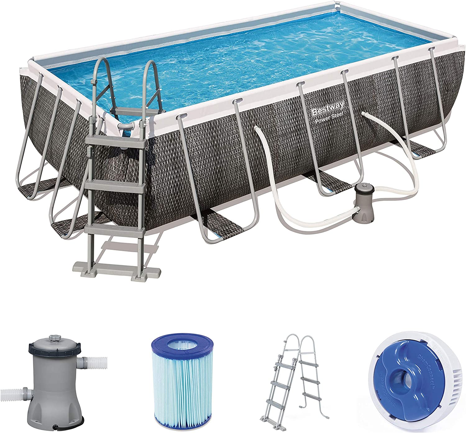 Bestway 56721 - Piscina (Piscina con Anillo Hinchable, Rectangular ...