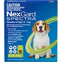 Nexgard, Flea, Tick & Worming Monthly Chew, Spectra, Dog, 7.6-15kg, 3pk