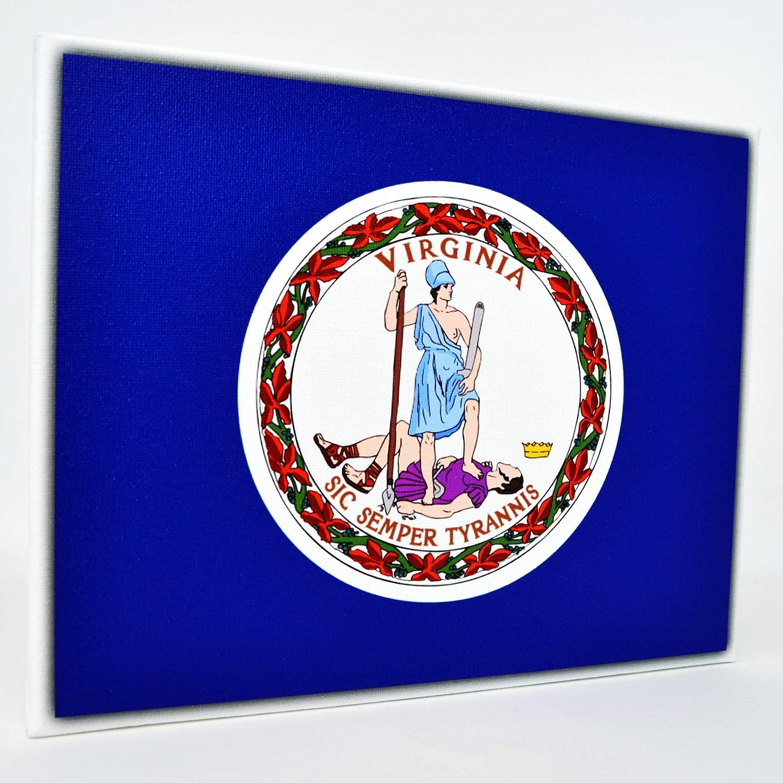 VIRGINIA STATE FLAG GLOSSY POSTER PICTURE PHOTO richmond beach tech va 1458