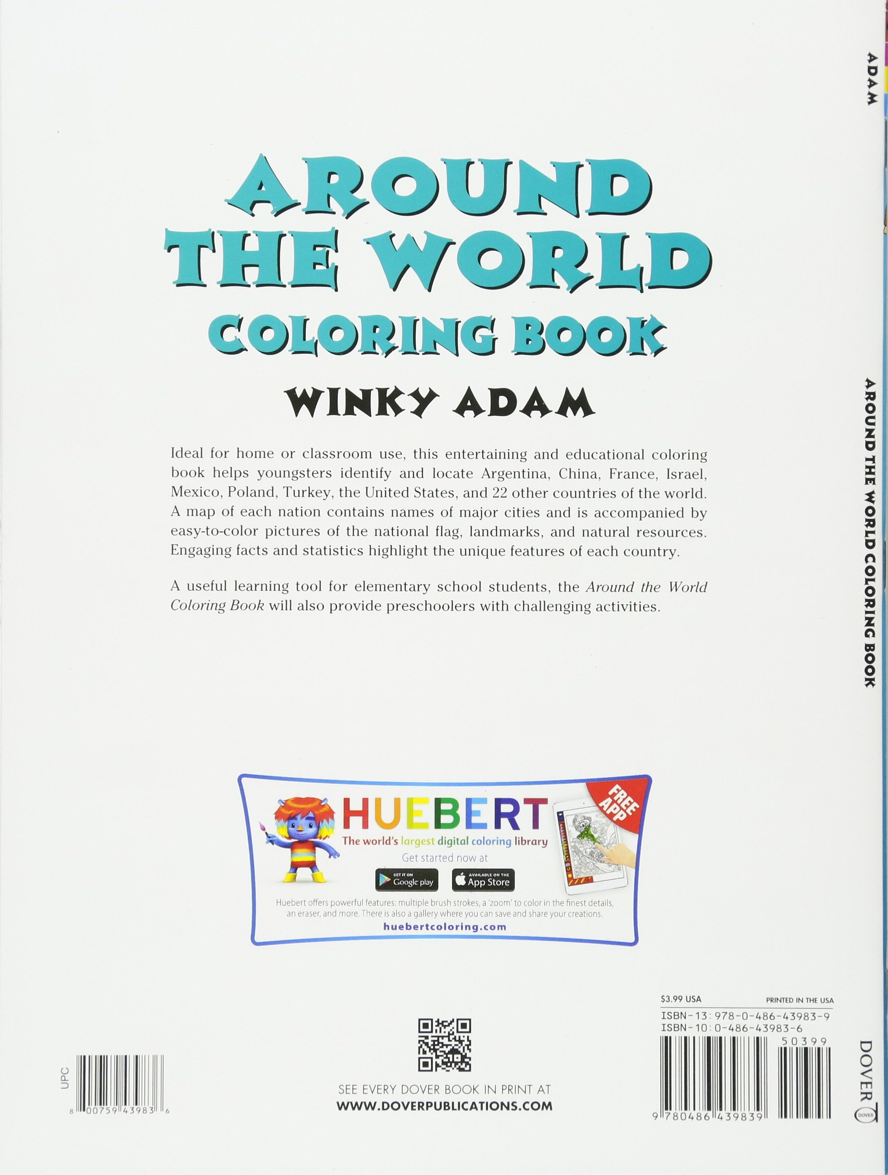Around The World Coloring Book Dover History Coloring Book - flags around the world coloring pages