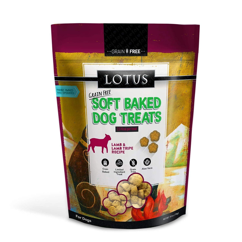 Lotus Soft Baked Lamb and Lamb Tripe Dog Treats 10 Ounces