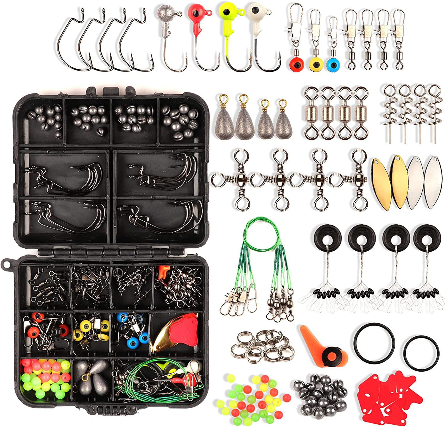 Fishing Gear and Tackle Box Organizer, Complete Fishing Equipment and Fishing Accessories Kit, Fishing Gifts for Men with Fishing Lures, Baits and Attractants - CYRUSGOLD : Sports & Outdoors