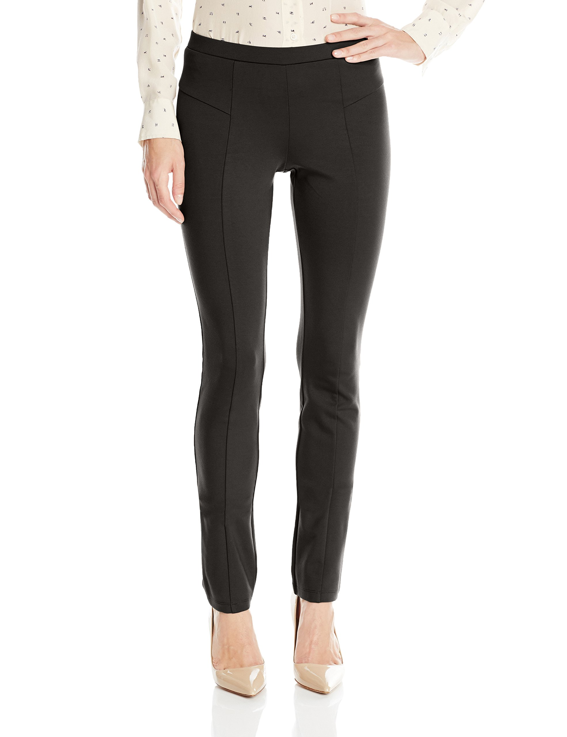 NIC+ZOE Women's Perfect Ponte Pant, Black Onyx, Small