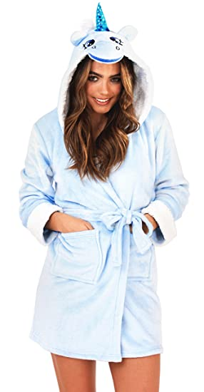 Ladies Robe Dressing Gown Winter Size 8 10 12 14 16 18 20 22 Unicorn Cow  Rabbit Sheep Christmas Gift  Amazon.co.uk  Clothing 4e596c51e