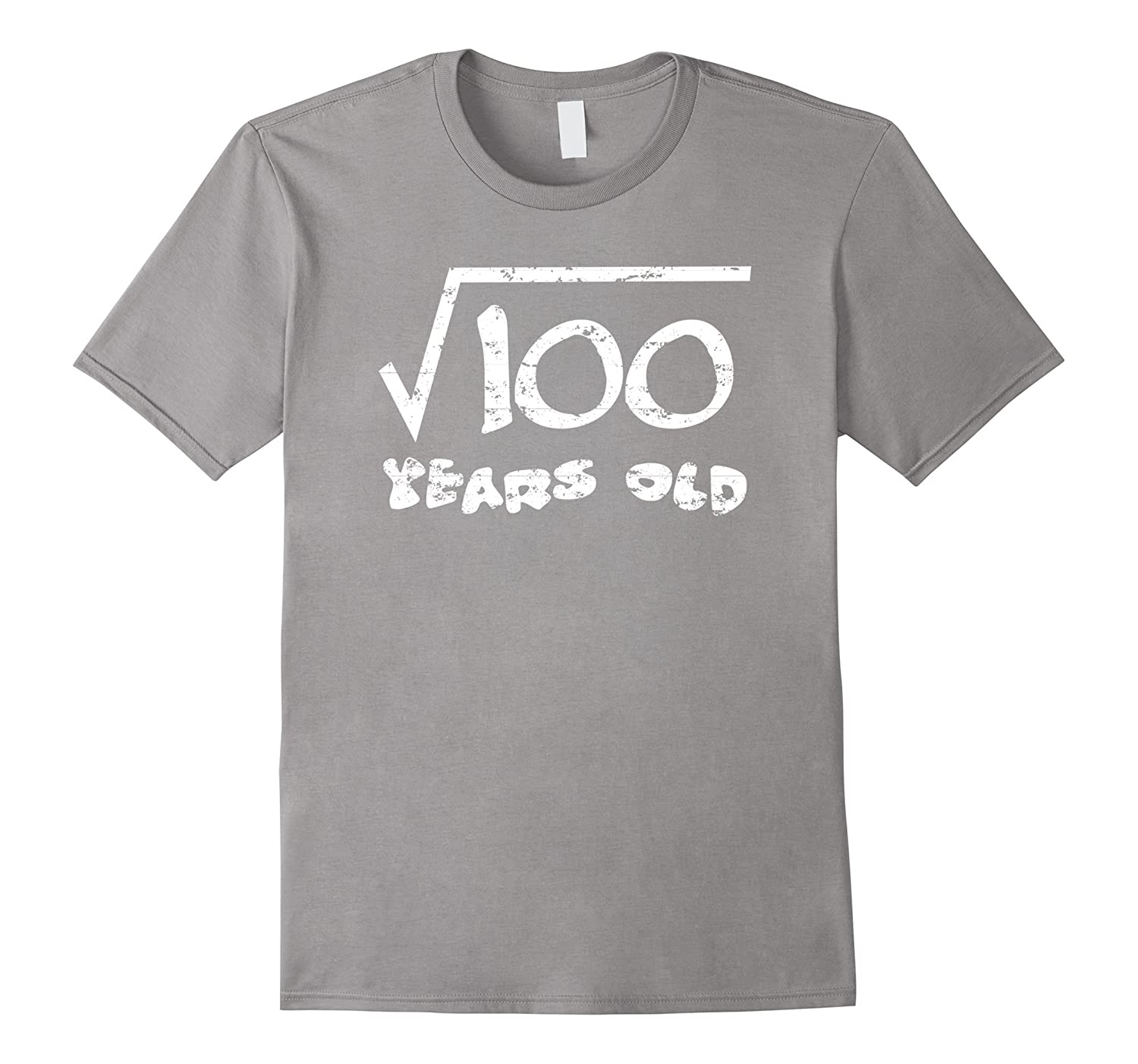10th Birthday 10 Year Old Funny Square Root of 100 T-Shirt-ANZ