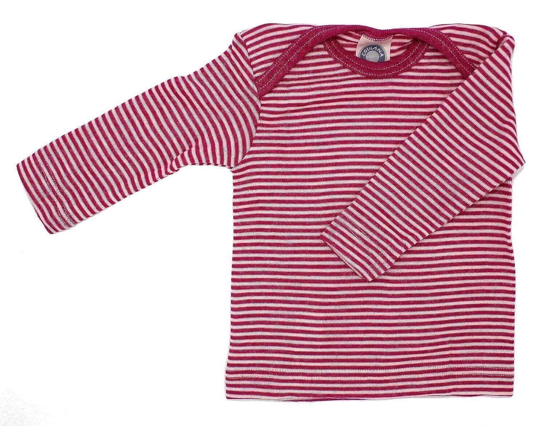 Cosilana - Baby T-Shirt Long Sleeve, 70% Organic Merino Wool, 30% Silk