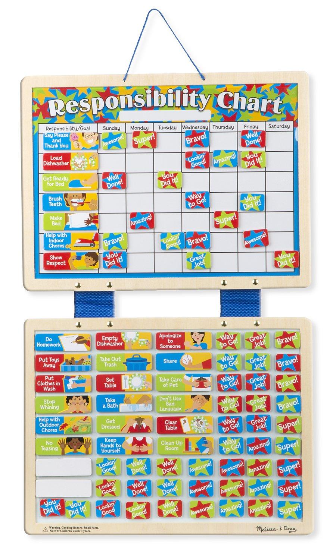 Melissa & Doug Magnetic Responsibility Chart Toy Melissa and Doug 5059