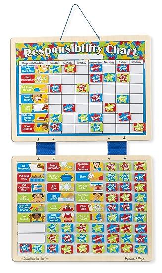 Amazon com melissa doug magnetic responsibility chart toy