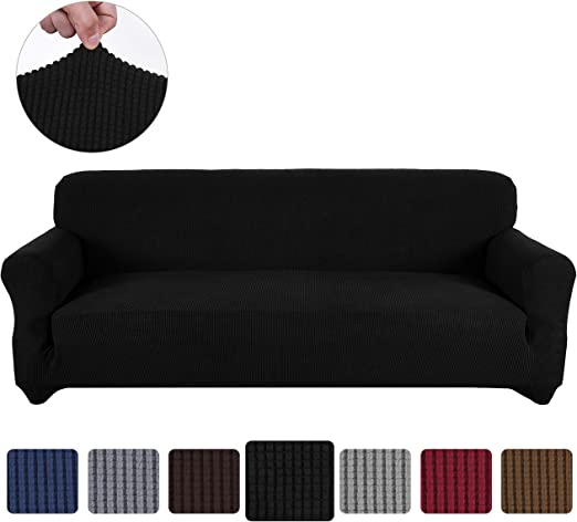 """90/""""-115/"""" Soft Heavyweight Microsuede Cover Slipcover Sofa//Couch Cover 4 Seater"""