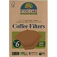 If You Care Filtros de café, cesta de 20.3 cm en bolsa de polietileno, paquetes de 100 unidades (paquete de 24)