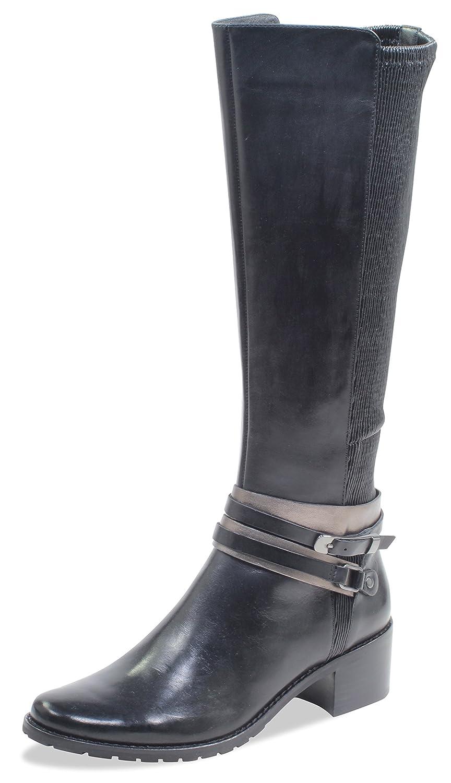 CAPRICE Damen Stiefel 25514-21,Frauen Stiefel,Lederstiefel,Reißverschluss, Decksohle,Blockabsatz 4.5cm