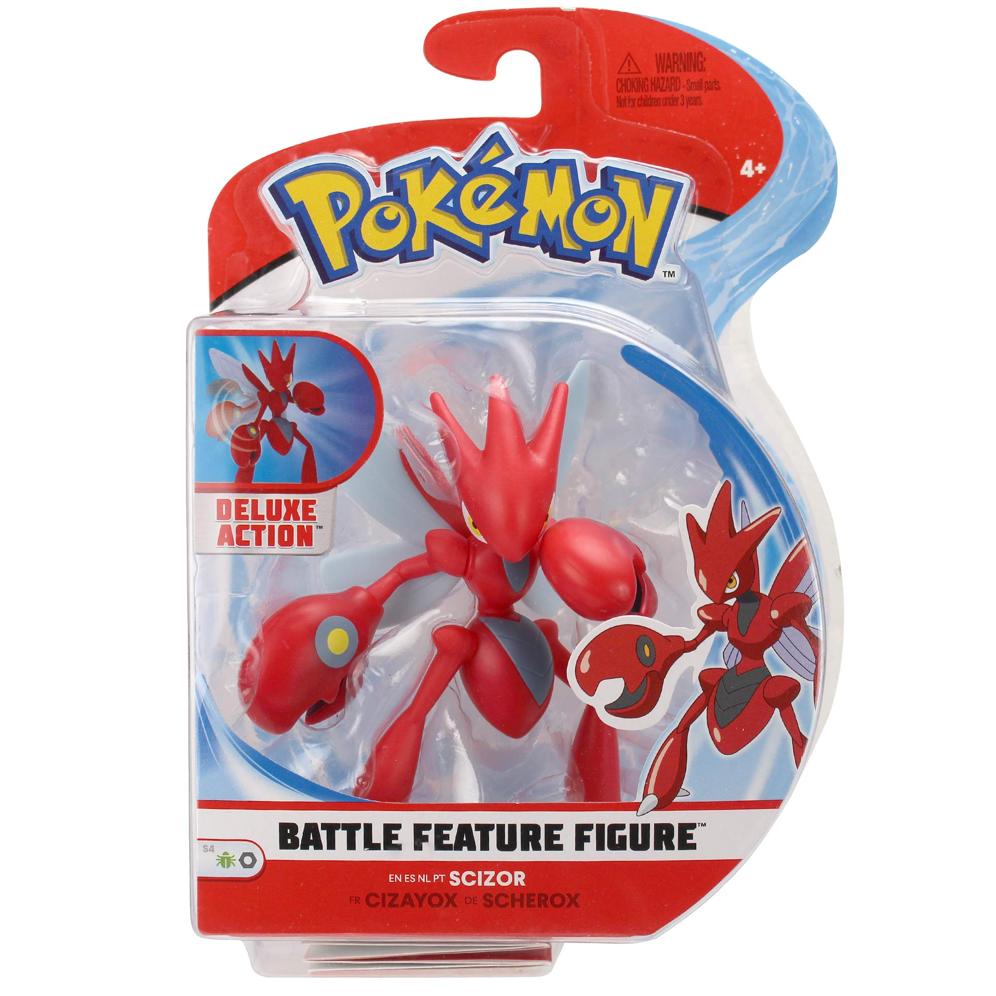 PoKéMoN Feature Figure | Scizor | 11,5 CM | Authentic Details & Dynamic Battle Features