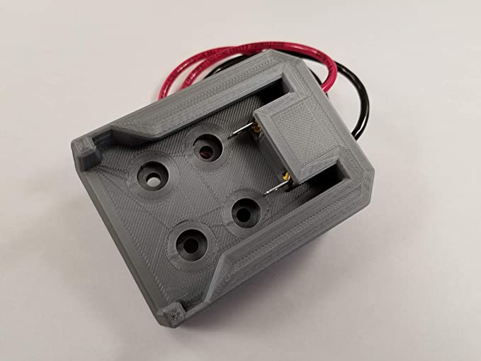 Amazon.com: Milwaukee M18 Battery Power Mount Connector Adapter Dock Holder w 12 awg Wires: Home Audio & Theater