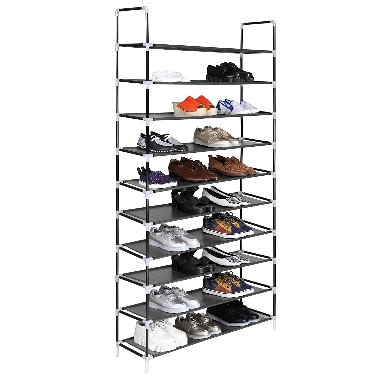 sloping organizer racks with wooden drawers on floor and pin white cabinet three rack shoe the