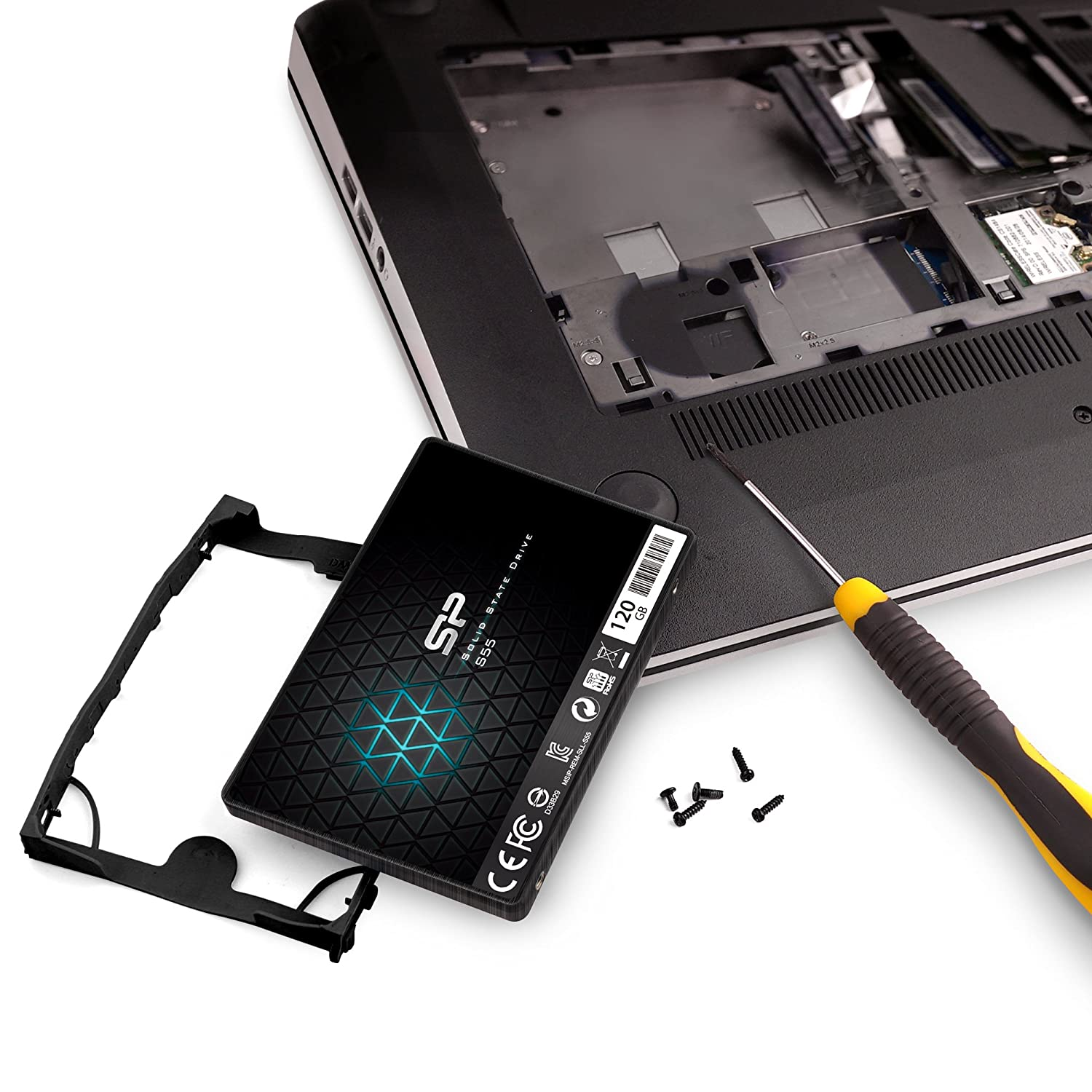 Silicon Power S55 120GB 2.5-Inch 7mm SATA III Internal Solid State Drive SP120GBSS3S55S25