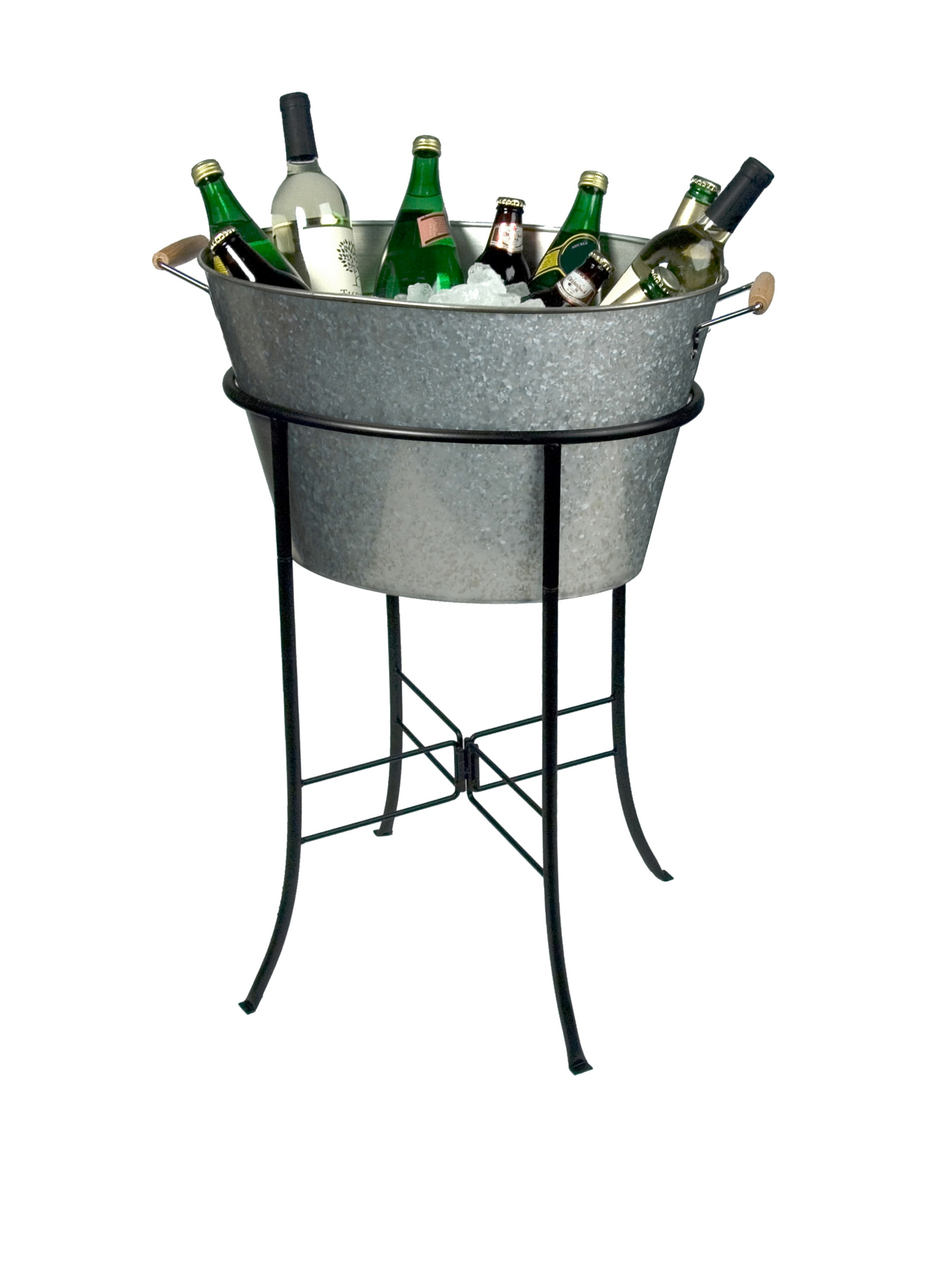 Artland Oasis Party Tub with Stand, Galvanized, Metal