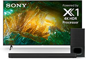 Sony X800H 75 Inch TV: 4K Ultra HD Smart LED TV with HDR and Alexa Compatibility - 2020 Model & Soundbar with Wireless Subwoofer