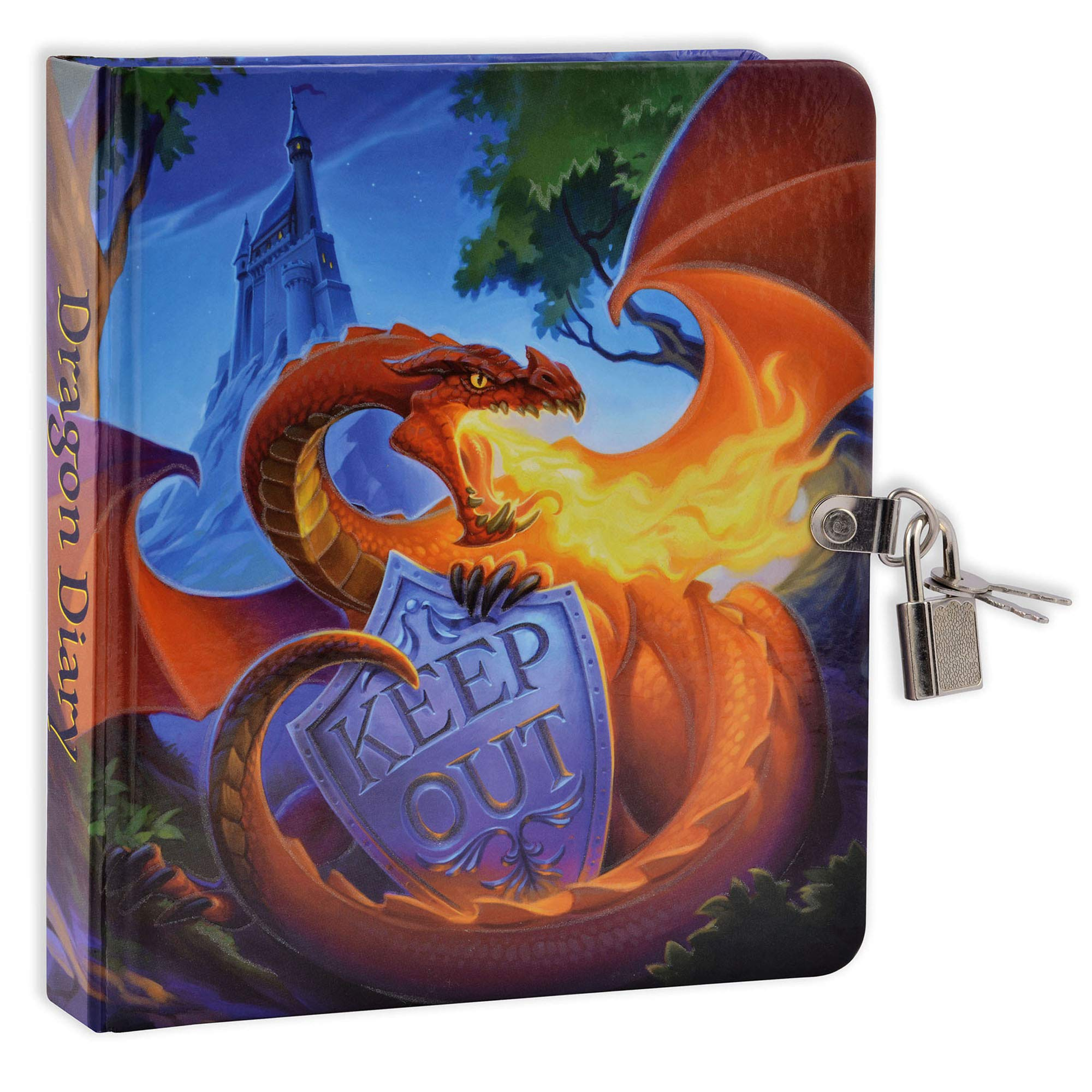 Mollybee Kids Keep Out Dragon Glow in The Dark Lock and Key Diary by Mollybee Kids