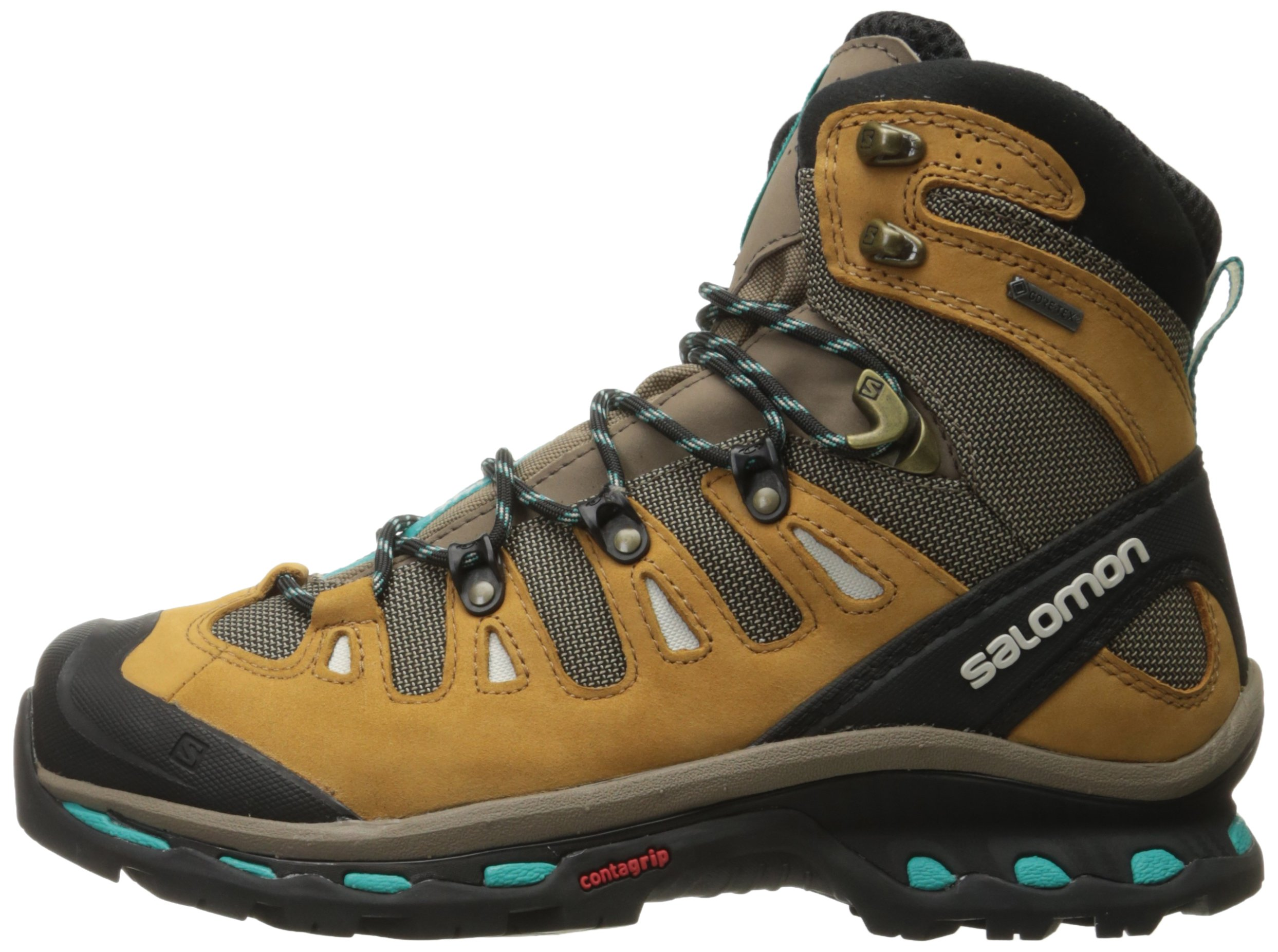 Salomon Women's Quest 4d 2 Gtx W Backpacking Boot, Shrew/Camel Gold Leather/Teal Blue Fabric, 8.5 M US by Salomon (Image #5)