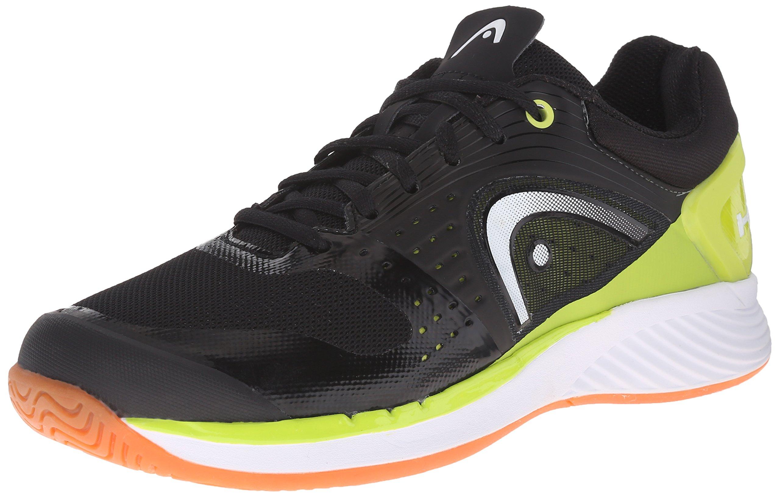 Head Men's Sprint Pro Indoor Low Shoe, Black/Lime, 7.5 M US