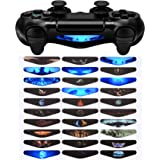 eXtremeRate 30 Stücke Light Bar Stickers Decal Aufkleber Sticker Licht Bar Abziehbild für Playstation 4,PS4 Slim,PS4 Pro Kontroller [Playstation 4]