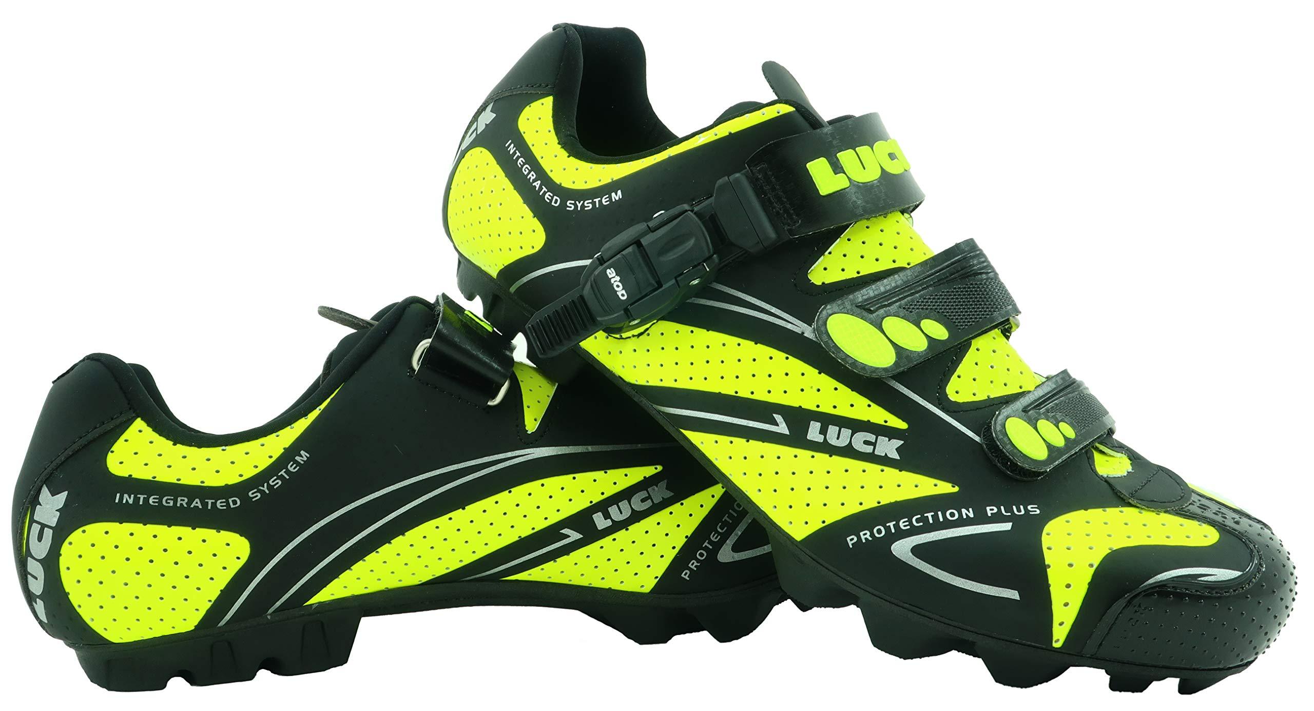 zapatilla de ciclismo LUCK TEAM REVOLUTION MTB , con suela de carbono y cierre milimétrico de