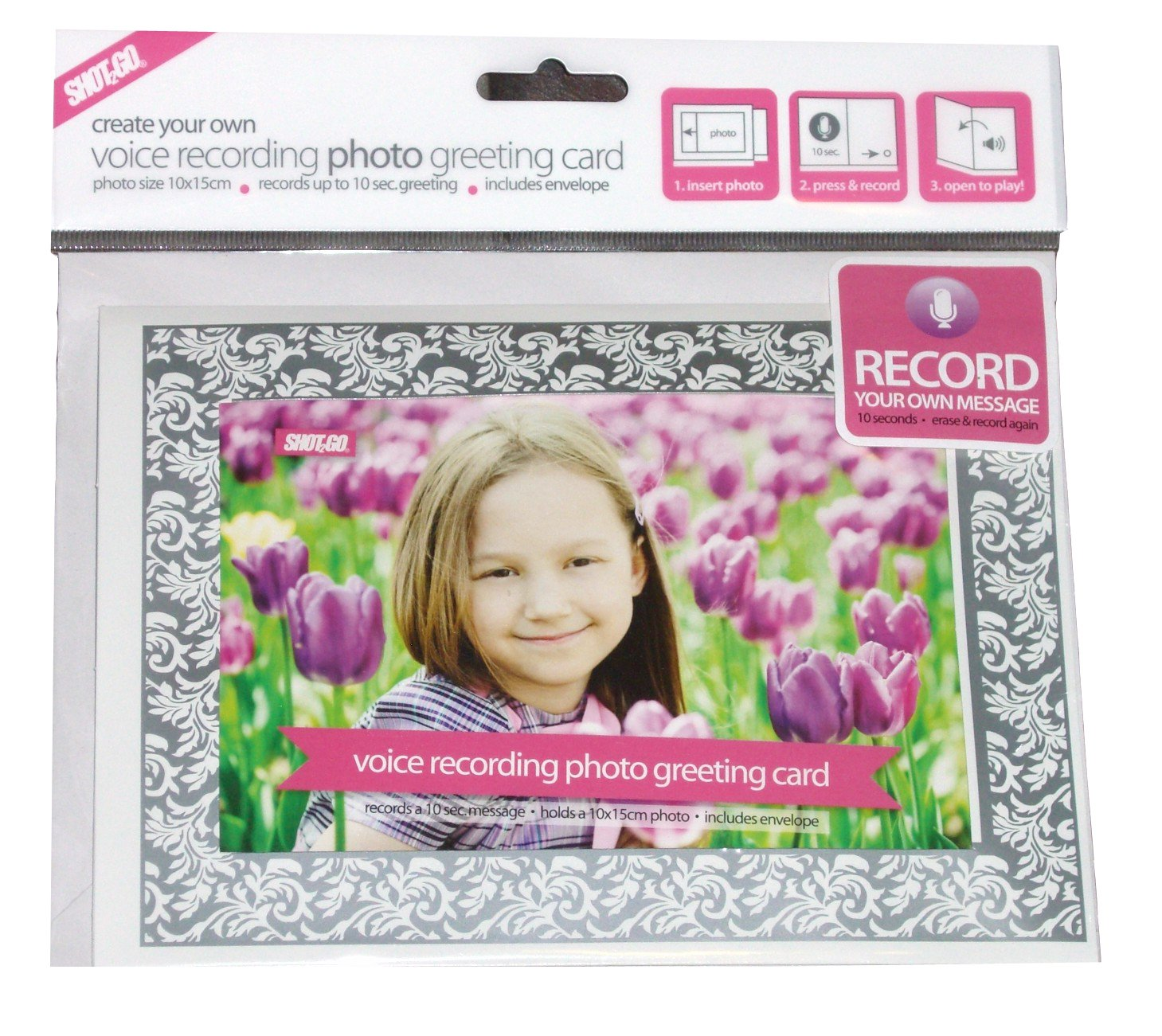 Create Your Own Voice Recordable Photo Greeting Card Holds 6x4