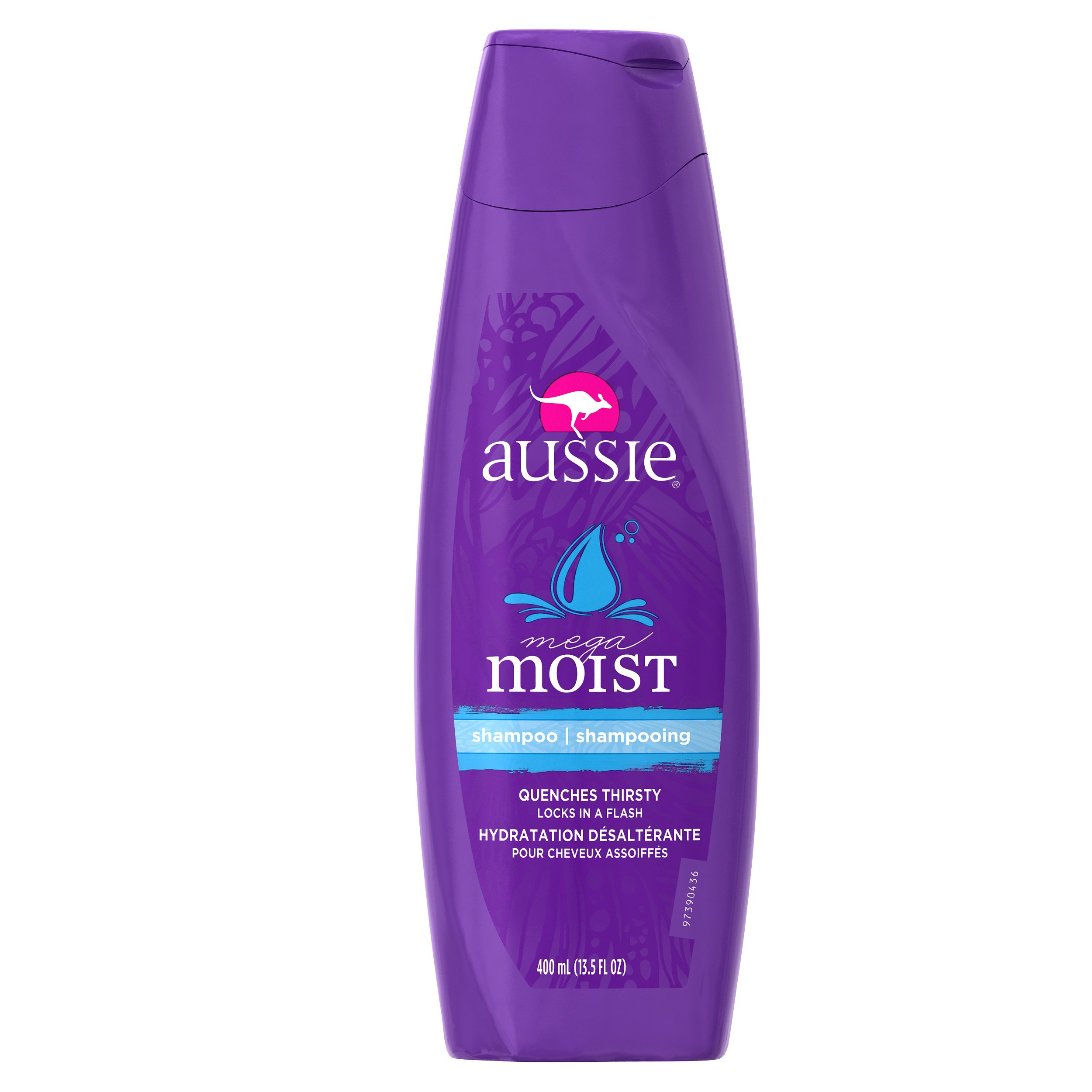 Aussie Mega Moist Shampoo 13.50 oz (Pack of 6)