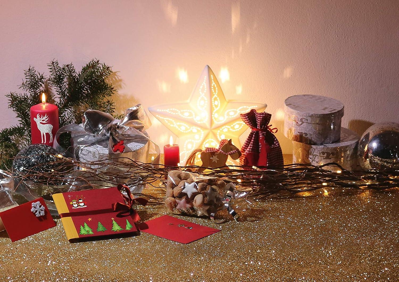 44 gro/ße Weihnachtssticker f/ür Dekoration selbstklebende Fensterdeko Aufkleber HERMA 15545 Weihnachten Fensterbilder Sterne Gold Set
