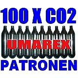 100 x 12g capsules de CO2 pour airsoft, paintball, pistolets à air ou carabines à air comprimé