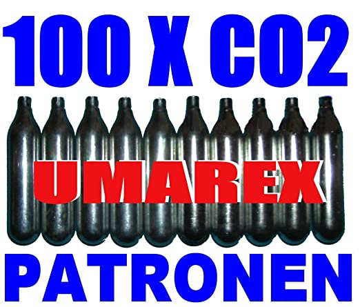 79 opinioni per Set di 100 Capsule di CO2- Ricarica Gas per Proiettili (12g) per Armi Softair,