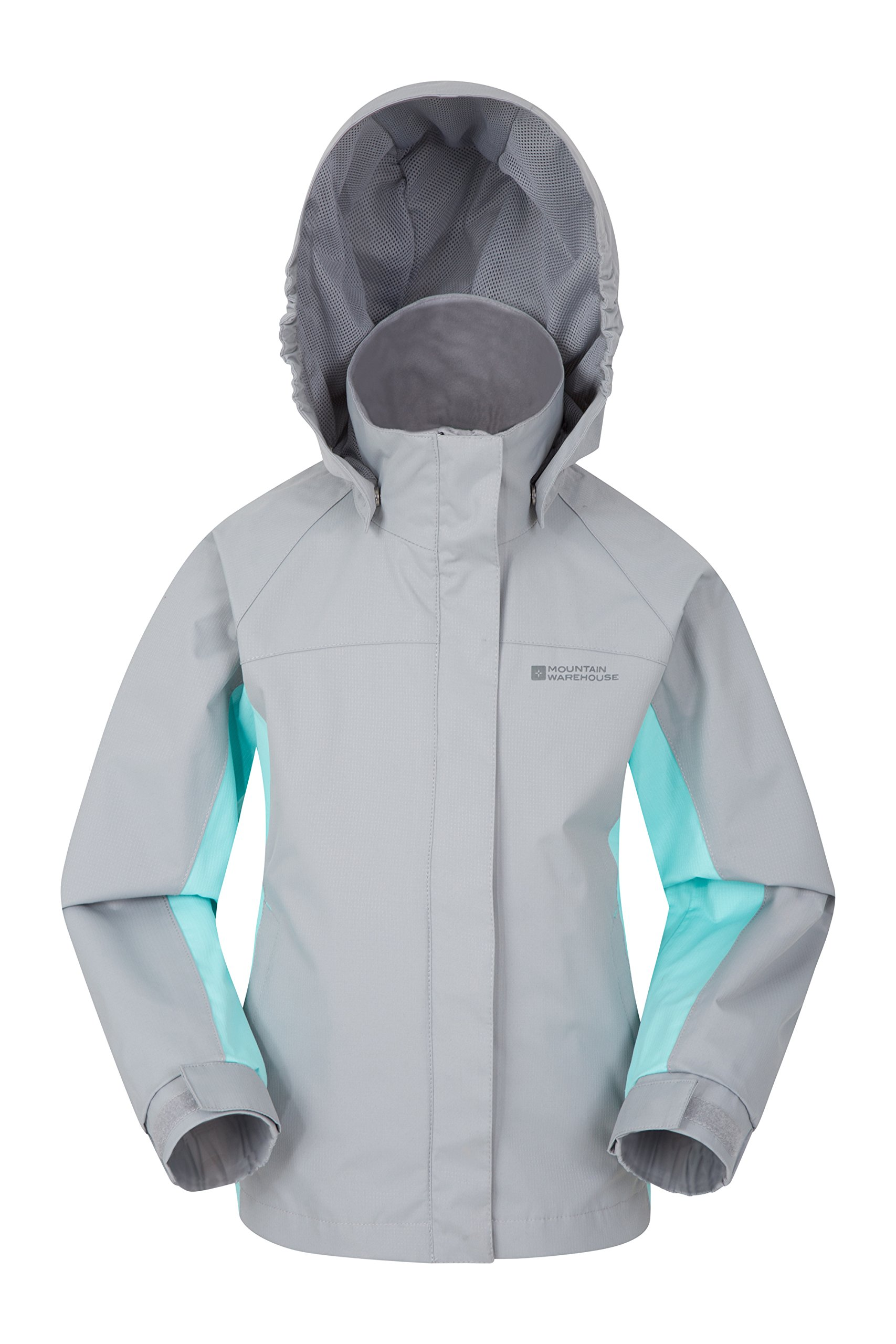 Mountain Warehouse Shelly II Kids Jacket - Waterproof Summer Coat Light Grey 9-10 Years