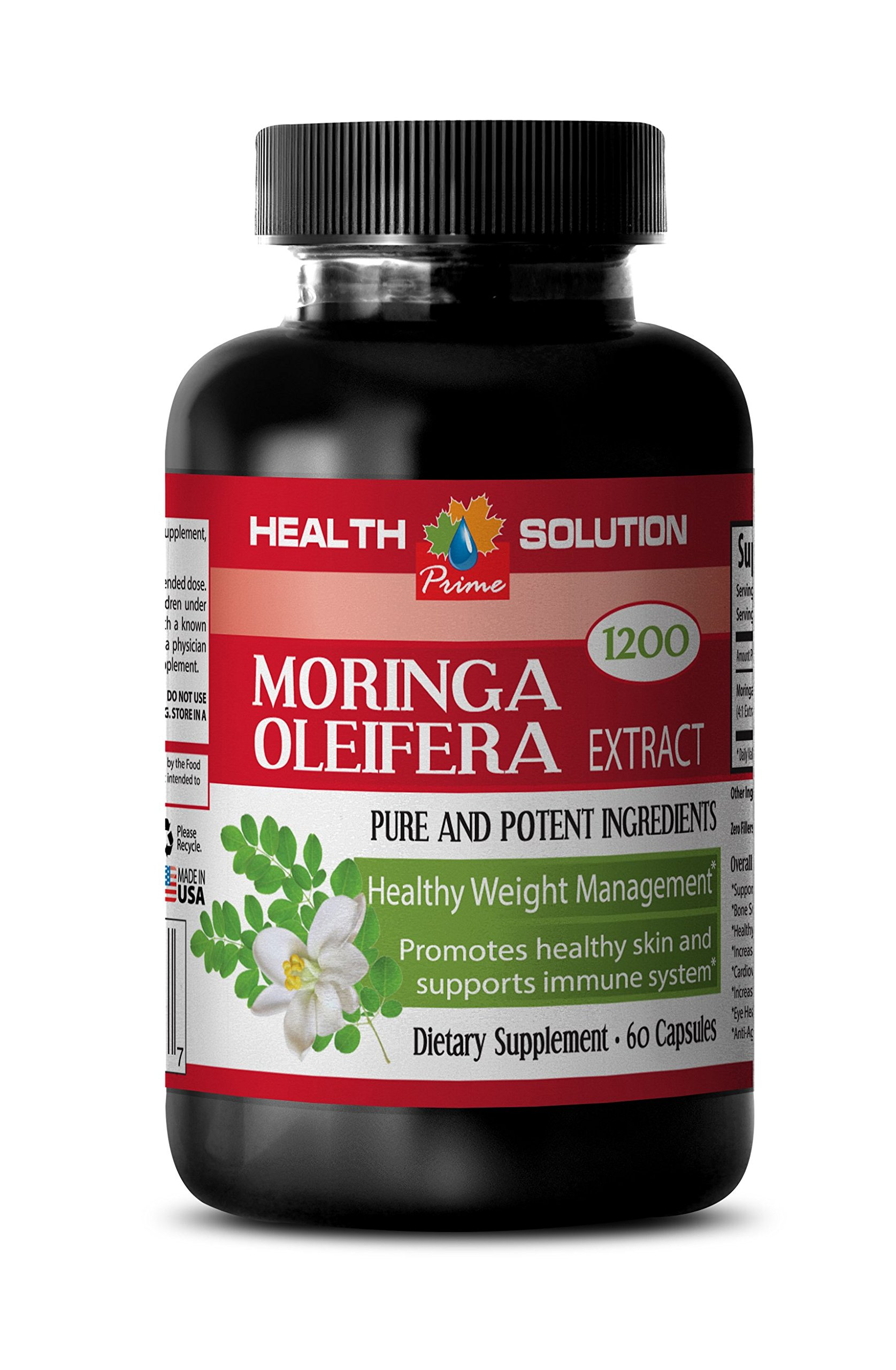 Moringa Organic Powder - MORINGA OLEIFERA EXTRACT 1200 - Pure Skin Clarifying Dietary Supplement 3 Bottles, 180 Capsules by Health Solution Prime (Image #3)