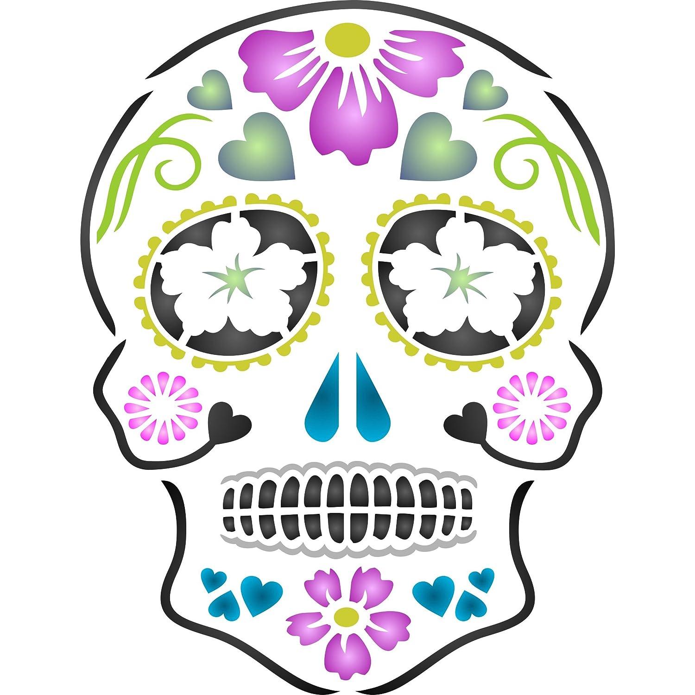 Amazon Day Of The Dead Sugar Skull Stencil Size 65w X 85