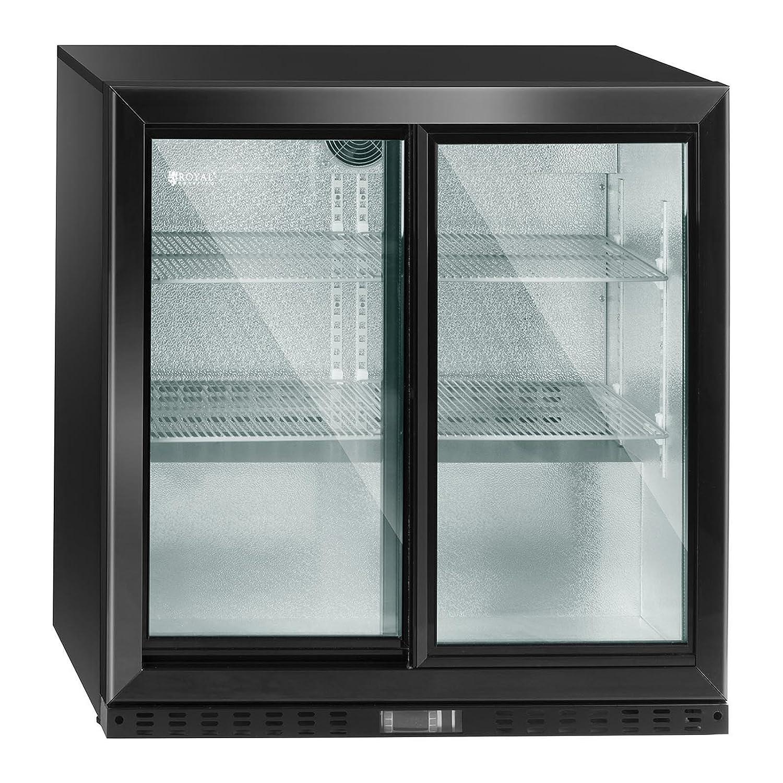 Royal Catering Nevera Expositora De Bebidas RCGK-B208-2 (208 L, 340 W, 4 estantes, Puerta deslizante, Rango de temperatura 4-8 °C): Amazon.es: Industria, ...