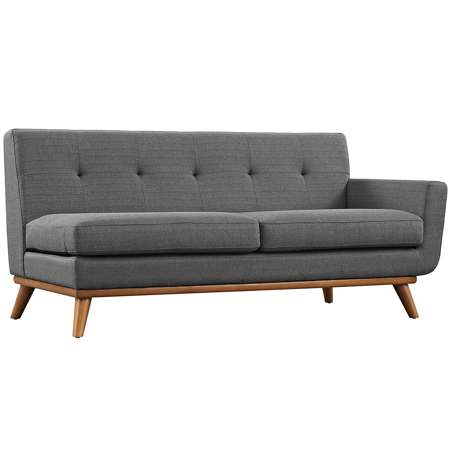 Amazon.com Modway Engage Mid-Century Modern Upholstered Fabric L-Shaped Sectional Sofa In Gray Kitchen u0026 Dining  sc 1 st  Amazon.com : gray l shaped sectional - Sectionals, Sofas & Couches