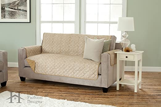 Amazon.com: Deluxe Reversible Quilted Furniture Protector. Beautiful ...