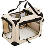 Songmics Folding Portable Soft Fabric Pet Carrier Beige - S 50 x 35 x 35 cm PDC50W