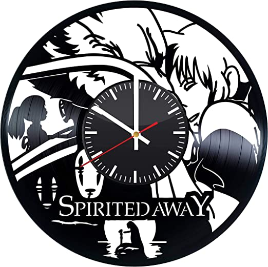 Amazon Com Spirited Away Vinyl Clock Studio Ghibli Spirited Away Vinyl Records Wall Art Room Decor Handmade Decoration Party Supplies Theme Best Original Present Gift Idea Vintage Modern Style Home