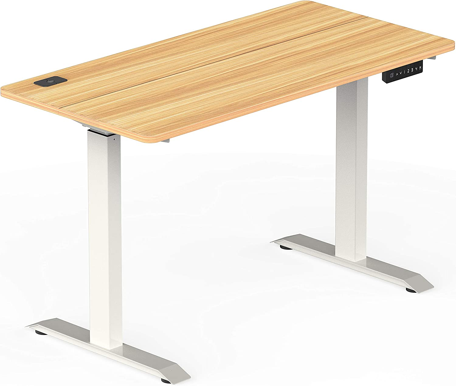 Shw Standing Desk Electric Height Adjustable Computer Desk 120 X 60 Cm 48 X 24 Inches Maple Amazon Ca Home Kitchen