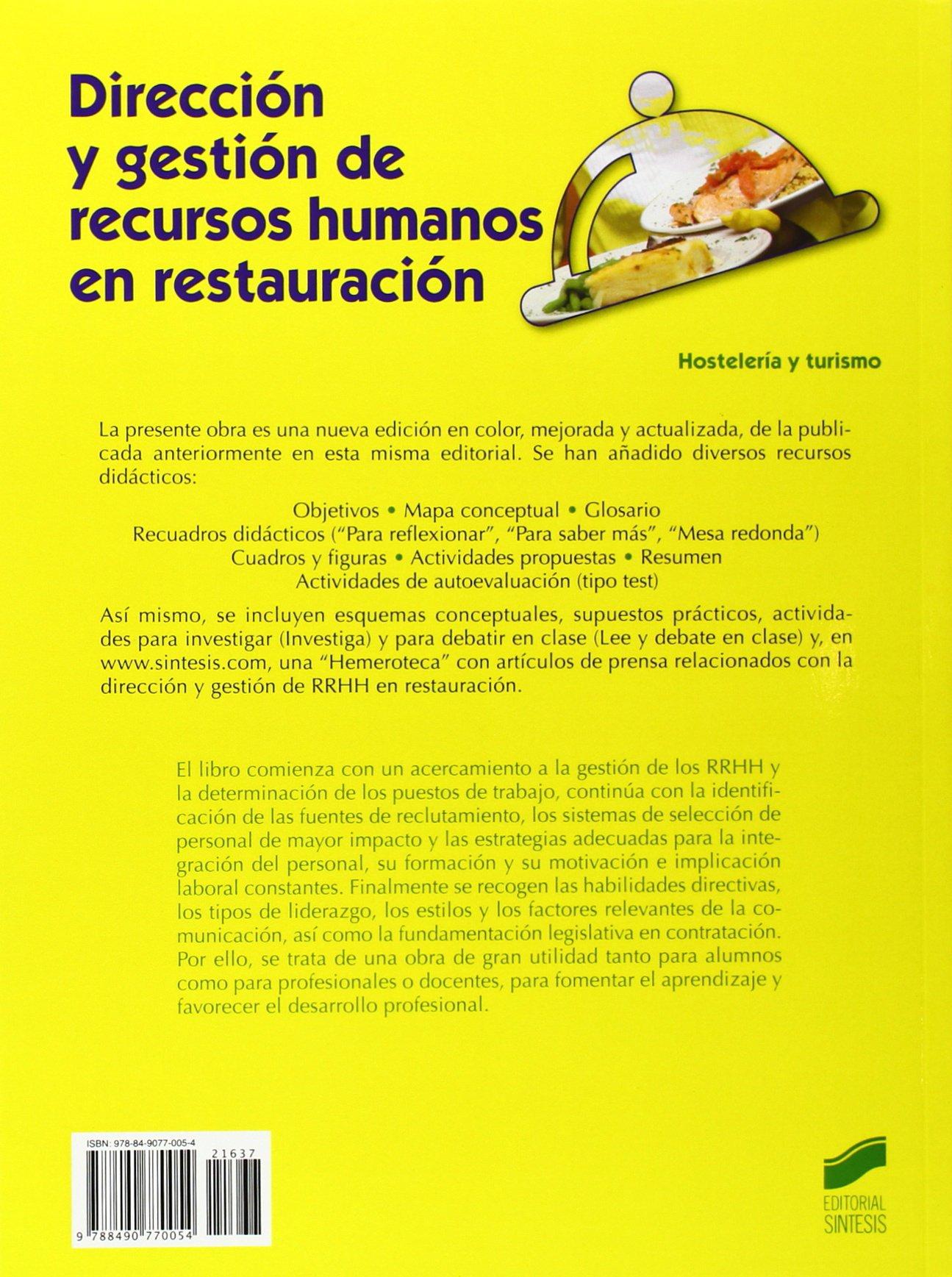 Dirección y gestión de recursos humanos en restauración: PAU ...