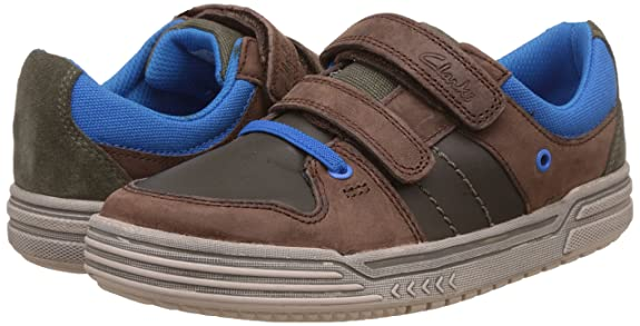 Clarks Chicos Chad Skate entrenadores Inf Brown Combi 10½ F cCYIY