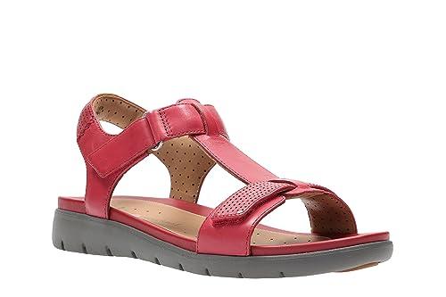 Clarks Leichte Schuhe Damen Sandalen GoldBronze