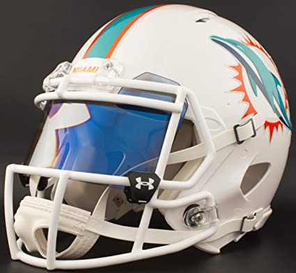 39b7a269 Amazon.com : Riddell Custom Miami Dolphins Full Size NFL Speed ...
