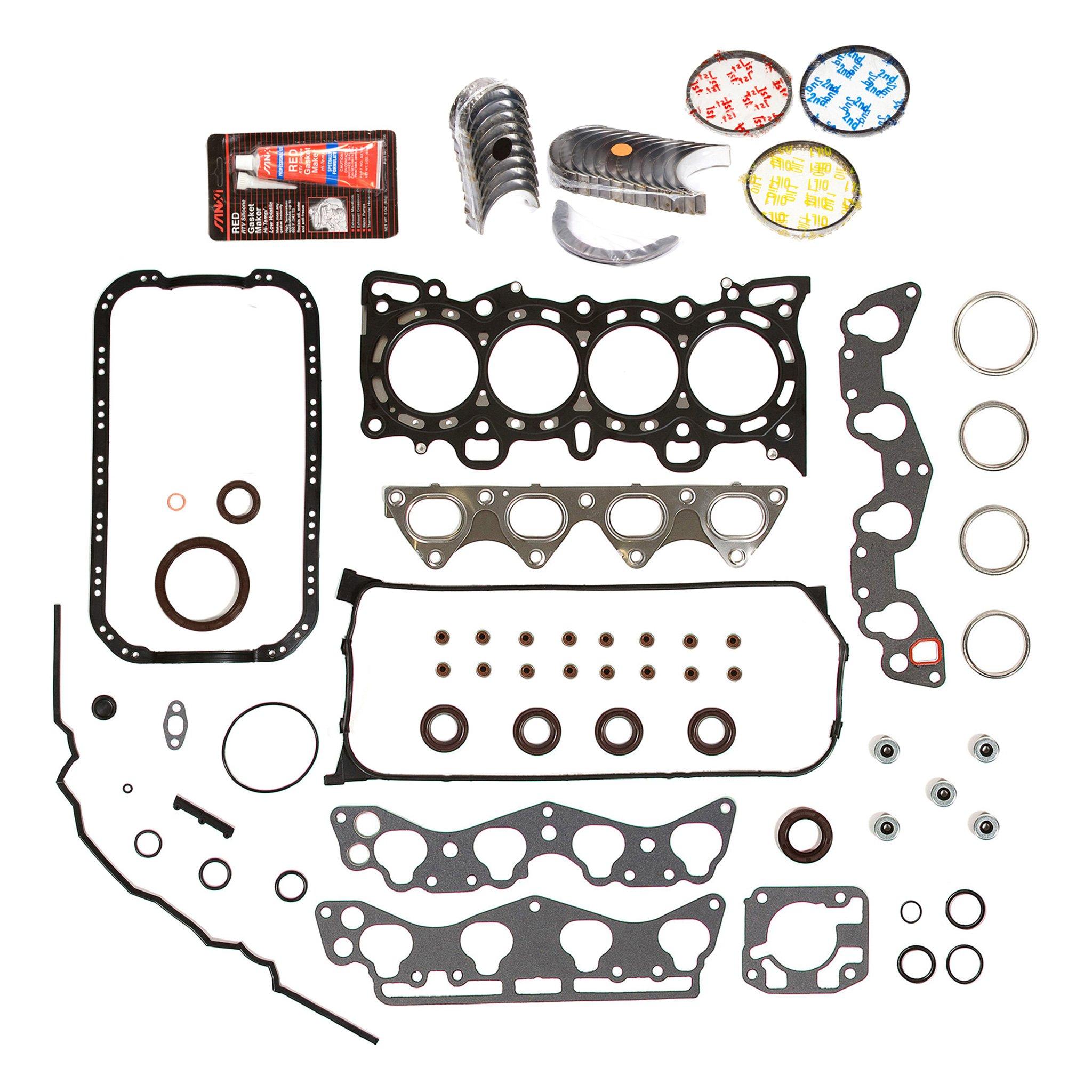 Evergreen Engine Rering Kit FSBRR4029EVE 96-00 Honda Civic 1.6 D16Y5 D16Y7 Full Gasket Set, 0.25mm / 0.010'' Oversize Main Rod Bearings, 0.50mm / 0.020'' Oversize Piston Rings by Evergreen Parts And Components