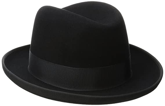 fc6805fcd965 Stetson Men's Homburg Royal Deluxe Fur Felt Hat at Amazon Men's ...