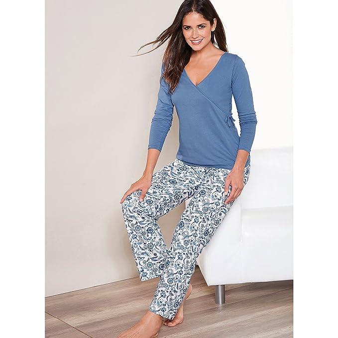 VENCA Pijama Camiseta de Escote v Cruzado con Lazo en un costado by Vencastyle: Amazon.es: Ropa y accesorios
