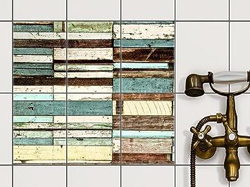 Küchenkacheln überkleben fliesen dekor klebe sticker aufkleber folie küchenfliesen bad