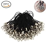 "Amazon Price History for:Fashionclubs 2.56"" 200pcs/set Black Lanyard Lobster Clasp Lariat Cord Strap For Cellphone"