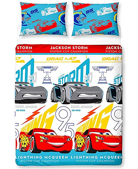 Copripiumino Cars 1 Piazza E Mezzo.Disney Copripiumino 1 Piazza E Mezza Cars 3 Reversibile Amazon It